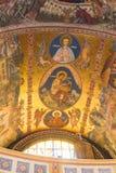 Картина на потолке собора святой троицы Город Сибиу в Румынии Стоковые Изображения RF