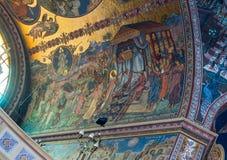 Картина на потолке собора святой троицы Город Сибиу в Румынии Стоковые Фотографии RF