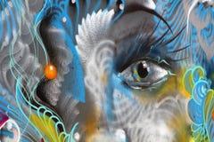 Картина на стене улицы art8 здания Стоковые Изображения