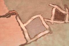 Картина на ткани в бежевых и розовых цветах Стоковые Фото