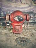 Картина на трубе водопровода огня Стоковые Изображения RF