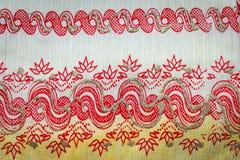 Картина на цвете ткани Multi на белой земле Стоковые Изображения