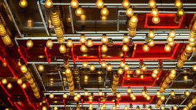 Картина неоновых свет проблескивая в Лас-Вегас Стоковые Фотографии RF