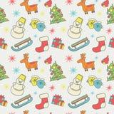 Картина Нового Года или рождества стиля значков плоского Стоковая Фотография RF