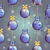 Картина Нового Года с шариком Обои рождества Стоковая Фотография