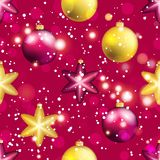 Картина Нового Года с шариком Обои рождества Стоковые Фото