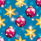 Картина Нового Года с шариком Обои рождества Стоковые Фотографии RF