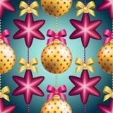 Картина Нового Года с шариком Обои рождества Стоковые Изображения