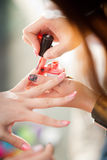 Картина ногтя Стоковые Изображения RF