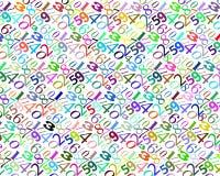 Картина номеров других цветов Стоковые Фото