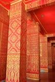 Картина нутряной стены тайского виска Стоковая Фотография