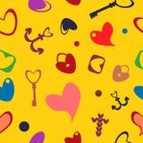 Картина дня Валентайн безшовная с сердцами Стоковое фото RF
