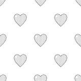 Картина дня Валентайн безшовная с сердцами Стоковое Фото