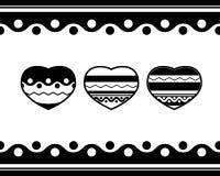 Картина дня валентинок 3 простых сердца Стоковые Изображения