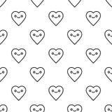 Картина дня валентинок St безшовная Стоковые Фотографии RF