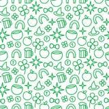 Картина дня St Patrick безшовная Стоковые Изображения RF