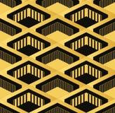 Картина обоев стиля Арт Деко безшовная винтажная Геометрическое decorativ Стоковое фото RF