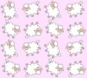 картина овечки безшовная Иллюстрация штока