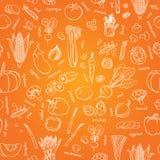 Картина овощей вектора Предпосылка овощей безшовная Стоковая Фотография RF
