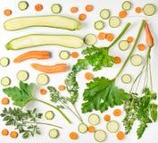Картина овощей свежих овощей на белой предпосылке carr Стоковые Изображения RF