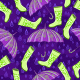 Картина дождя осени Стоковое фото RF