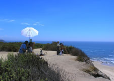 картина океана скалы художника Стоковое Фото