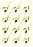 Картина оливок Иллюстрация штока