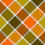 Картина оранжевой хаки шотландки проверки цвета болота раскосной безшовная бесплатная иллюстрация
