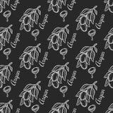 Картина орехового масла Argan безшовная Стоковые Изображения