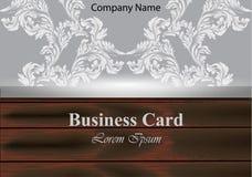Картина орнамента вектора визитной карточки барочная Текстуры ткани винтажного оформления мягкие Стоковое фото RF