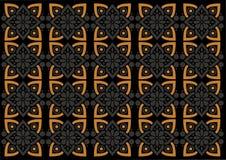 Картина орнамента Индонезии батика красивая иллюстрация вектора