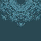 Картина орнамента мандала круглая Стоковое Изображение