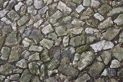 Картина дороги булыжника перекатная Стоковые Изображения
