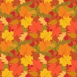 Картина осени безшовная красочных листьев иллюстрация цветков предпосылки свежая выходит вектор молока бесконечно иллюстрация вектора