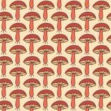 Картина осени безшовная с грибами Стоковые Изображения