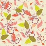 Картина осени безшовная с листьями и ветвями бесплатная иллюстрация