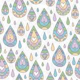 Картина осени безшовная с падениями дождя Стоковые Фотографии RF