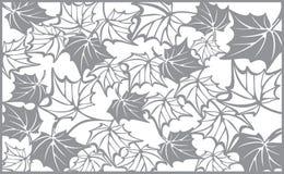 Картина осени, с кленовыми листами Шаблон для Стоковые Фотографии RF