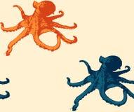 Картина осьминога безшовная Стоковое Изображение