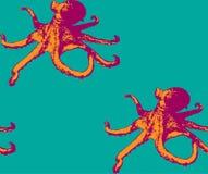 Картина осьминога безшовная Стоковое Изображение RF