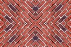 Картина от красных кирпичей Стоковые Изображения