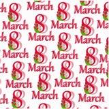 Картина от письма 8-ое марта Стоковая Фотография RF