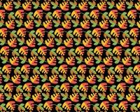 Картина от различных листьев Стоковое Фото