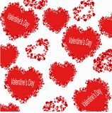 Картина от сердца с днем валентинки надписи Стоковые Изображения RF