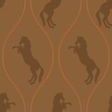 Картина лошади безшовная иллюстрация вектора