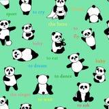 Картина панды Стоковая Фотография