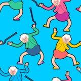 Картина партии дома престарелых Орнамент танца бабушки бабушка бесплатная иллюстрация