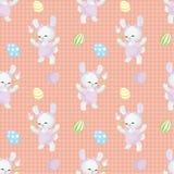 Картина пасхи безшовная с кроликами Стоковая Фотография