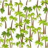 Картина пальм безшовная Стоковое Изображение