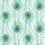 Картина пера павлина безшовная Стоковые Фото
